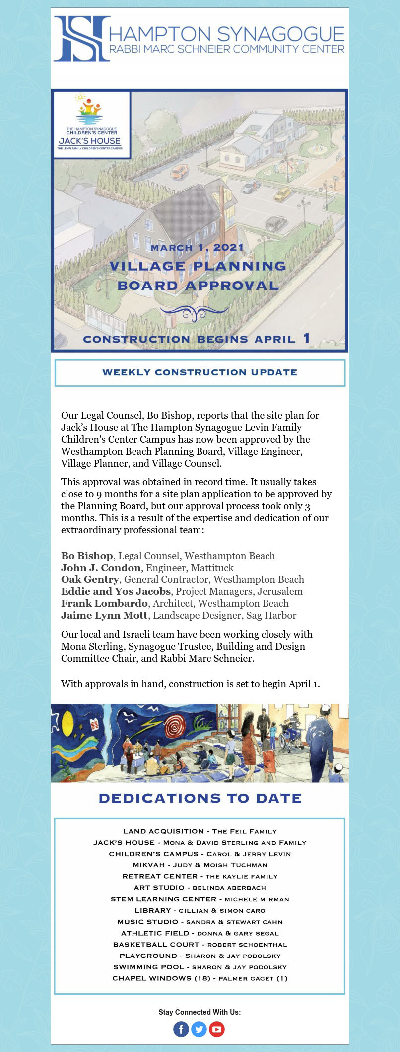 The Hampton Synagogue Children's Center – Weekly Construction Update