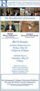 JBS TV Shabbat Services & Special Programs