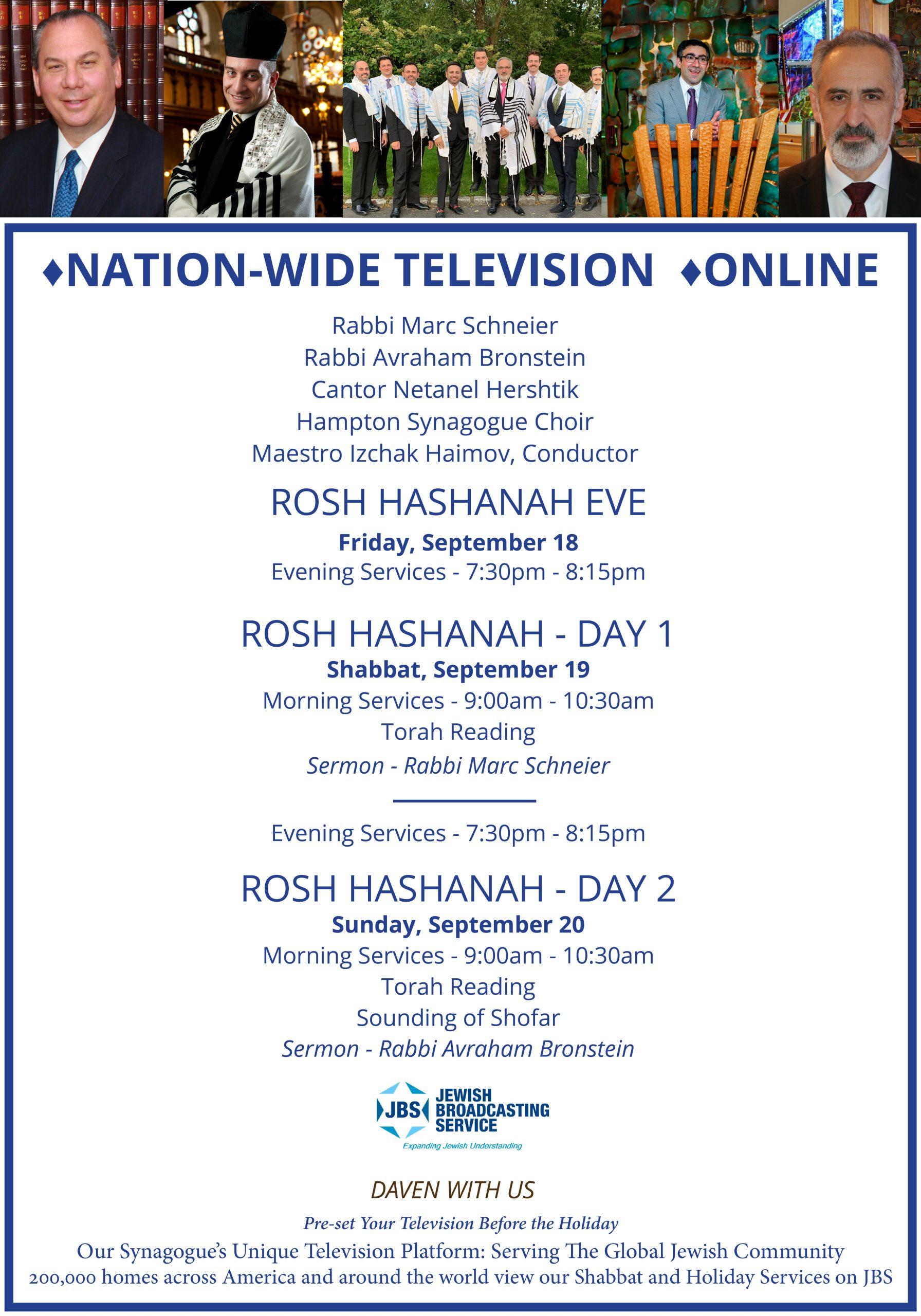JBS TV Shabbat /Holiday Services & Special Programs